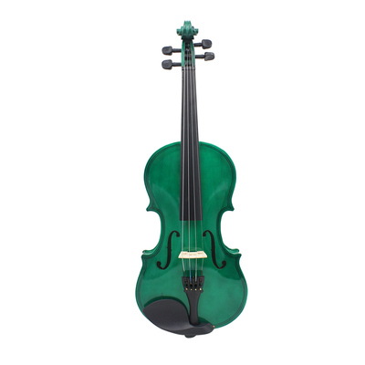 4/4 dark green violin basswood