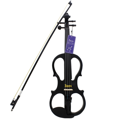 4/4 electro-acoustic violin rounded black